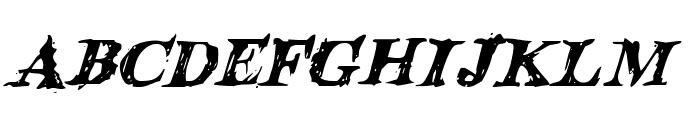 Blood Crow Italic Font LOWERCASE