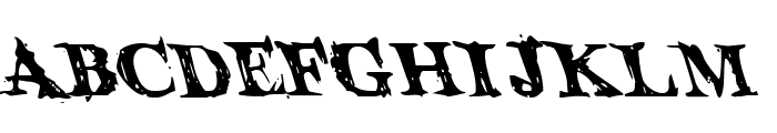 Blood Crow Leftalic Font UPPERCASE