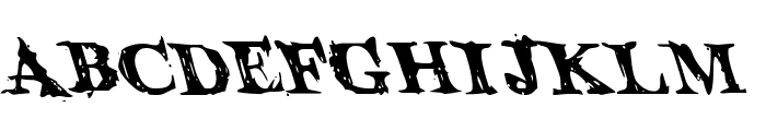 Blood Crow Leftalic Font LOWERCASE