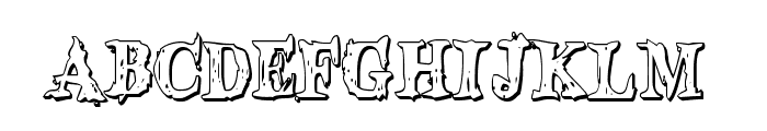 Blood Crow Shadow Condensed Font LOWERCASE