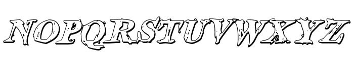 Blood Crow Shadow Italic Font LOWERCASE