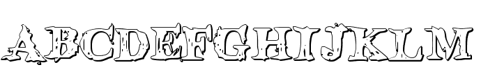 Blood Crow Shadow Font UPPERCASE