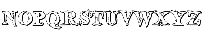 Blood Crow Shadow Font LOWERCASE