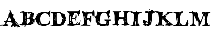 Blood Crow Font LOWERCASE