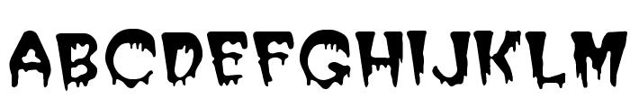Blood Cyrillic Font LOWERCASE