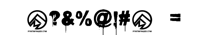 Blood Lust Font OTHER CHARS