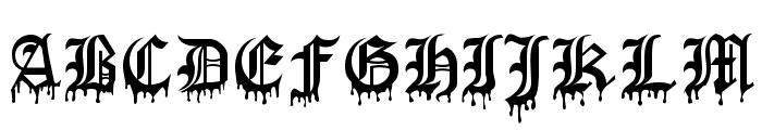 Blood Of Dracula Font UPPERCASE