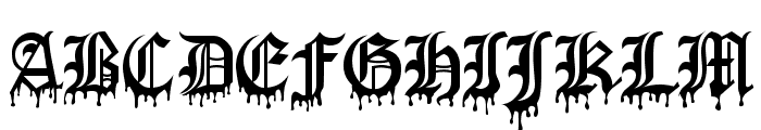 Blood Of DraculaSW Font UPPERCASE