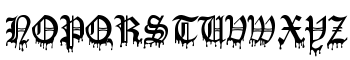 Blood Of DraculaSW Font LOWERCASE