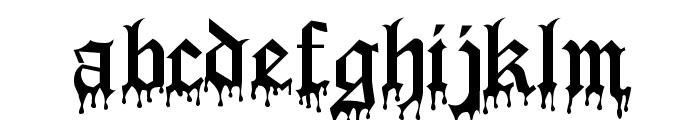 Blood Of Dracula Font LOWERCASE