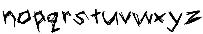 Blood Scratch Font LOWERCASE