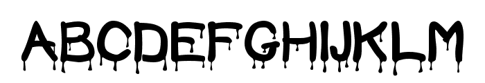 Blood Font UPPERCASE