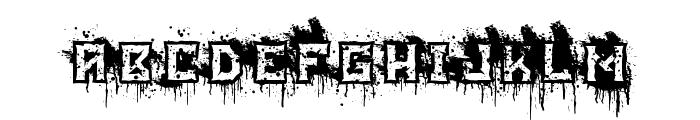 BloodBlocks Font LOWERCASE