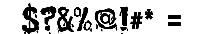 BloodFeast Font OTHER CHARS