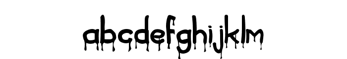 Blood Font LOWERCASE