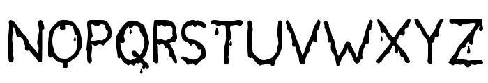 Bloodgutter 2000 Font UPPERCASE