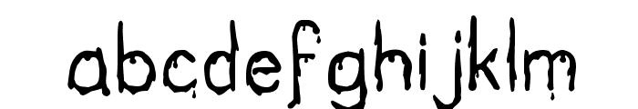 Bloodgutter 2000 Font LOWERCASE