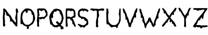 Bloodgutter 99 Font UPPERCASE
