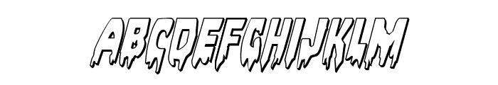 Bloodlust 3D Italic Font UPPERCASE