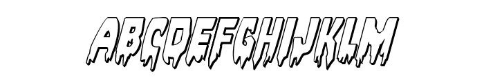 Bloodlust 3D Italic Font LOWERCASE