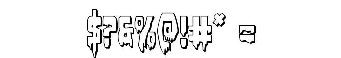 Bloodlust 3D Regular Font OTHER CHARS
