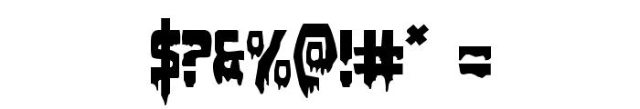 Bloodlust Expanded Font OTHER CHARS