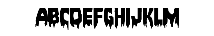 Bloodlust Expanded Font LOWERCASE
