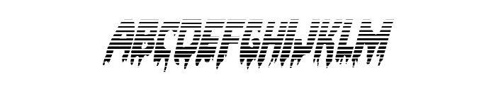 Bloodlust Gradient Italic Font LOWERCASE