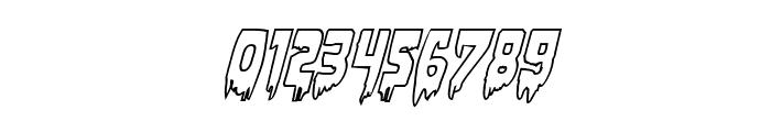 Bloodlust Outline Italic Font OTHER CHARS