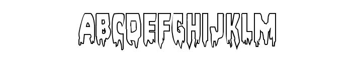 Bloodlust Outline Regular Font LOWERCASE