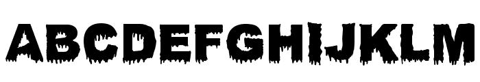Bloody Stump Font UPPERCASE