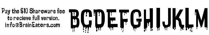 Bloodytronic SW Font UPPERCASE