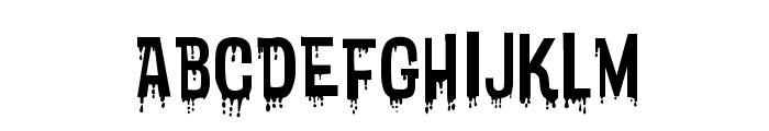Bloodytronic SW Font LOWERCASE