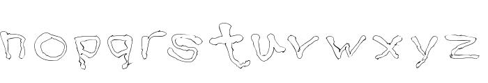 BlottoooLightBeer Font LOWERCASE