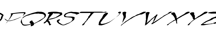 BlottoooWobbly Font UPPERCASE