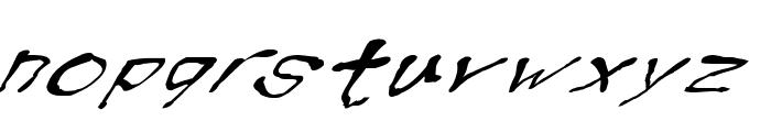 BlottoooWobbly Font LOWERCASE