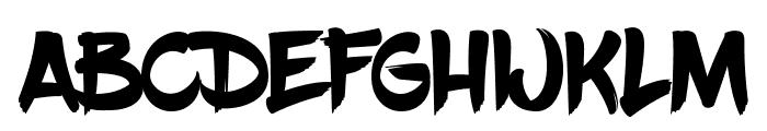 BlowBrush Font UPPERCASE