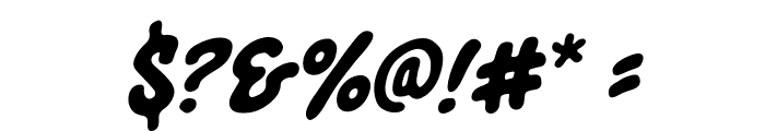 Blowhole BB Italic Font OTHER CHARS