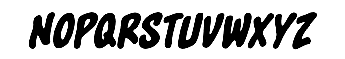 Blowhole BB Italic Font LOWERCASE