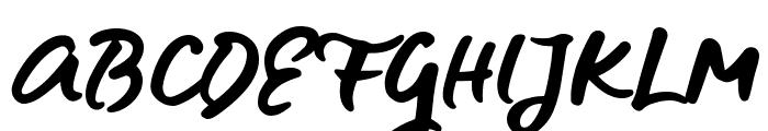 Blue Fires Sample Font UPPERCASE