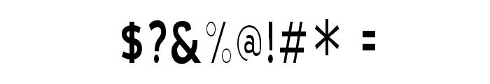 Blue Highway Condensed Regular Font OTHER CHARS