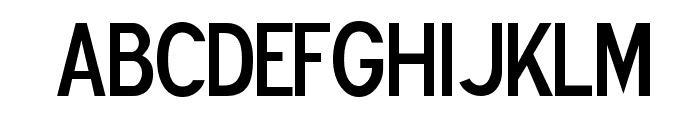 Blue Highway D Type Font UPPERCASE