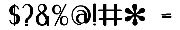 Blue Melody UltraBold Font OTHER CHARS