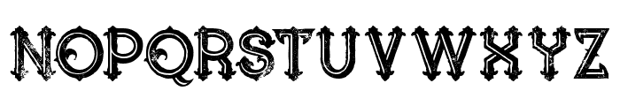 Blue North Inline Grunge Font UPPERCASE