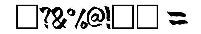 BlueBrush-Normal Font OTHER CHARS
