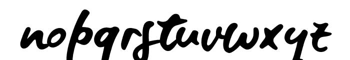 BlueFiresSample Font LOWERCASE