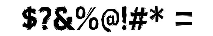 BlueHighwayLinocut-Regular Font OTHER CHARS