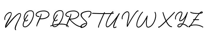 BlueQueen Font UPPERCASE