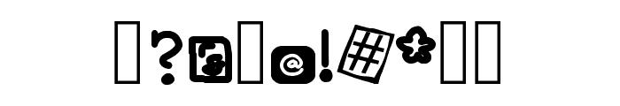 Blueberry Hills Regular Font OTHER CHARS