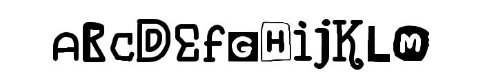 Blueberry Hills Regular Font LOWERCASE